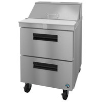 Hoshizaki SR27A-8D2 27 inch 2 Drawer Stainless Steel Refrigerated Sandwich Prep Table