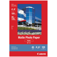 Canon 7981A014 4 inch x 6 inch White Pack of 45# 108 Bright Matte Photo Paper - 120 Sheets