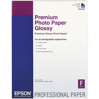 Epson S042092 17 inch x 22 inch High-Gloss White Pack of 10.4 Mil Premium Photo Paper - 25 Sheets
