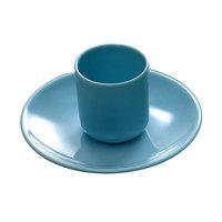 Thunder Group 2907 Blue Jade 7 1/8 inch x 5 inch Oval Melamine Platter - 12/Case
