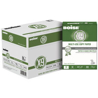 Boise CC2241 X-9 8 1/2 inch x 11 inch White Case of 24# Multi-Use Copy Paper - 5000 Sheets - 10/Case