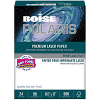 Boise BPL0111 Polaris 8 1/2 inch x 11 inch White Premium Ream of 24# Laser Paper - 500 Sheets