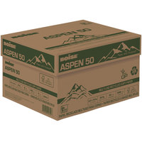 Boise 055014 Aspen 50 8 1/2 inch x 14 inch White Case of 20# Multi-Use Recycled Paper - 5000 Sheets - 10/Case