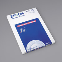 Epson S041406 11 3/4 inch x 16 1/2 inch Luster White Pack of 10 Mil Ultra Premium Photo Paper - 50 Sheets