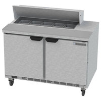 Beverage-Air SPE48HC-10 Elite Series 48 inch 2 Door Refrigerated Sandwich Prep Table