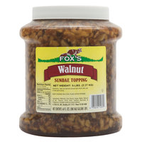 Fox's 1/2 Gallon Walnut Ice Cream Sundae Topping - 6/Case