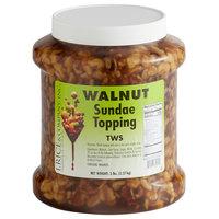 I. Rice 1/2 Gallon Walnut Dessert / Sundae Topping - 6/Case