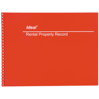 Ideal DOMM2512 8 1/2 inch x 11 inch Wirebound Rental Property Record Book