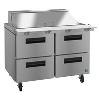 Hoshizaki SR48A-18MD4 48 inch 4 Drawer Mega Top Stainless Steel Refrigerated Sandwich Prep Table