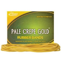 Alliance 21405 7 inch x 1/8 inch Pale Crepe Gold #117B Rubber Bands, 12 lb. - 300/Box