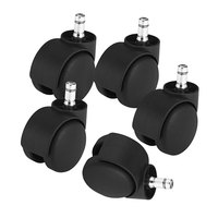 Master Caster 23620 Deluxe Futura Polyurethane Casters - 5/Set