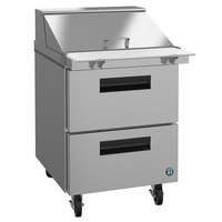 Hoshizaki SR27A-12MD2 27 inch 2 Drawer Mega Top Stainless Steel Refrigerated Sandwich Prep Table