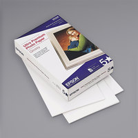 Epson S042174 4 inch x 6 inch Glossy Bright White Pack of 11.8 Mil Ultra Premium Photo Paper - 100 Sheets