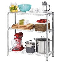 Alera ALESW833614SR 14 inch x 36 inch x 36 inch Silver Steel Wire Shelving 3-Shelf Starter Kit