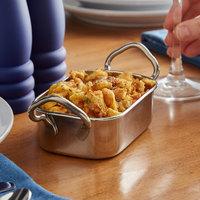 Vollrath 59769 11 oz. Rectangular Mini Stainless Steel Roasting Pan with Handles
