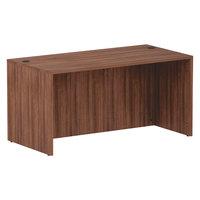 Alera ALEVA216030WA Valencia 59 1/8 inch x 29 1/2 inch Walnut Straight Desk Shell