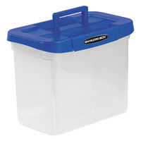 Bankers Box 0086301 14 1/4 inch x 8 5/8 inch x 11 1/16 inch Heavy-Duty Plastic Portable File Box