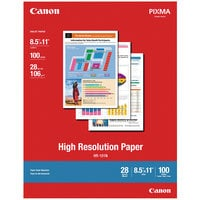 Canon 1033A011 8 1/2 inch x 11 inch White Pack of 28# High Resolution 98 Bright Matte Paper - 100 Sheets