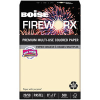 Boise MP2207IYRM Fireworx 11 inch x 17 inch Flashing Ivory Premium Ream of 20# Multi-Use Paper - 500 Sheets