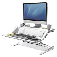 Fellowes 8080201 Lotus DX White Sit-Stand Workstation - 32 3/4 inch x 24 1/4 inch
