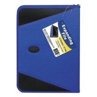 C-Line 48105 13-Pocket Blue Expanding File with Zipper Closure