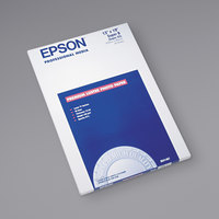 Epson S041407 13 inch x 19 inch Luster White Pack of 10 Mil Ultra Premium Photo Paper - 50 Sheets