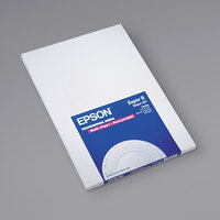 Epson S041263 19 inch x 13 inch Bright White Pack of 9 Mil Premium Matte Presentation Paper - 50 Sheets