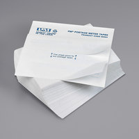 Iconex 05204 5 1/2 inch x 4 inch White Double Tape Strip Postage Meter Labels - 150/Pack