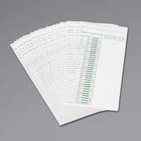 Acroprint 096103080 Weekly Time Card - 200/Pack