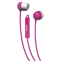Maxell 190304 Pink / White Silicone Earbuds with Microphone