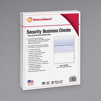 DocuGard 04509 8 1/2 inch x 11 inch Blue Marble Middle 11 Feature Standard Security Check Paper - 500/Ream