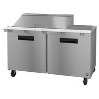 Hoshizaki SR60A-18M 60 inch 2 Door Mega Top Stainless Steel Refrigerated Sandwich Prep Table