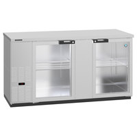 Hoshizaki HBB-3G-LD-69-S 69 1/2 inch Stainless Steel Glass Door Back Bar Refrigerator
