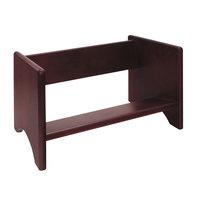Advantus 09753 17 1/8 inch x 9 3/4 inch x 9 5/8 inch Mahogany Wood Binder Rack