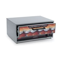 Nemco 8045N-BW Moist Heat Hot Dog Bun Warmer for 8045N Series Roller Grills - Holds 32 Buns