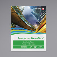 Xerox 3R20174 Revolution NeverTear 11 inch x 17 inch Smooth White Pack of Photo Paper - 100 Sheets