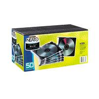 Fellowes 98330 Clear / Black Plastic Slim Jewel CD Case - 50/Pack