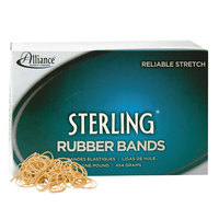 Alliance 24105 Sterling 1 1/4 inch x 1/16 inch Crepe #10 Rubber Bands, 6 lb. - 5000/Box