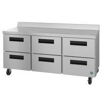 Hoshizaki WR72A-D6 72 inch Six Drawer Worktop Refrigerator