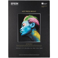 Epson S042330 Hot Press Bright 13 inch x 19 inch White Pack of 17 Mil Smooth Matte Fine Art Paper - 25 Sheets