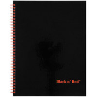 Black n' Red K67030 8 1/2 inch x 11 inch Matte Black Twinwire Hardcover 70 Page Wide / Legal Ruled Notebook