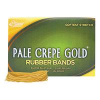 Alliance 20195 Pale Crepe Gold #19 Rubber Bands, 6 lb. - 1890/Box