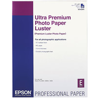 Epson S042084 17 inch x 22 inch Luster White Pack of 10 Mil Ultra Premium Photo Paper - 25 Sheets