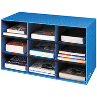 Fellowes 3380701 Banker's Box Blue 9-Section Classroom Literature Organizer - 4/Case