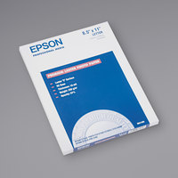 Epson S041405 8 1/2 inch x 11 inch Luster White Pack of 10 Mil Ultra Premium Photo Paper - 50 Sheets