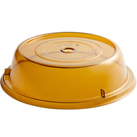 Cambro 1000CW153 Camwear Amber Camcover 10 3/16 inch Plate Cover - 12/Case