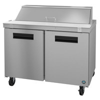 Hoshizaki SR48A-12 48 inch 2 Door Stainless Steel Refrigerated Sandwich Prep Table