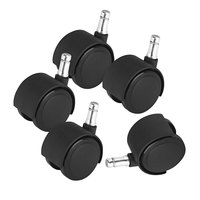 Master Caster 23622 Deluxe Duet Nylon Casters - 5/Set