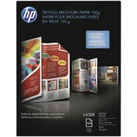 Hewlett-Packard Q6612A 8 1/2 inch x 11 inch Glossy White Pack of 40# Tri-Fold Brochure Laser Paper - 150 Sheets