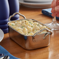 Vollrath 59770 17.5 oz. Rectangular Mini Stainless Steel Roasting Pan with Handles